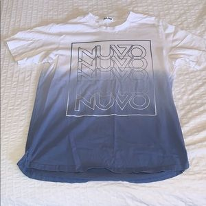 🌹3 for $25🌹NUVO - S White/Blue Graphic T-Shirt